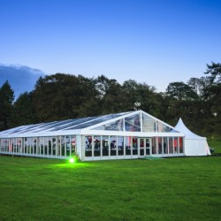 white frame tents